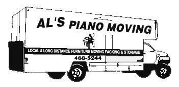 Al's Piano Moving truck